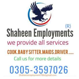 We provide cook maid baby sitter driver patient care etc
