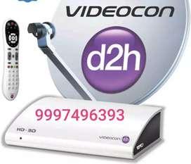Videocon d2h hd set top box with rf rimot