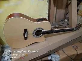 Gitar akustik elektrik bonus tas