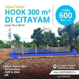 Dijual Cepat Tanah murah PerMeter 600Ribu Di Citayam Depok