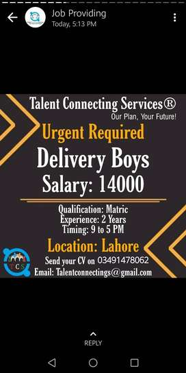 Need for Delivery boys