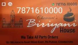 Chennai biriyani house, RS puram, coimbatore.