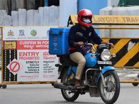 Delivery boy required for dominos