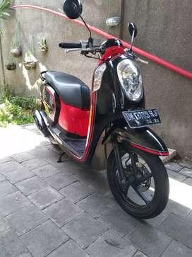 Scoopy 2015 hitam merah deva motor