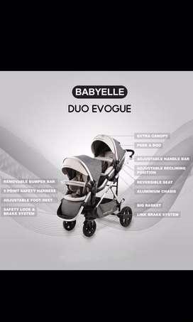Stroller bayi kembar BabyElle Duo Evogue S2800 tandem