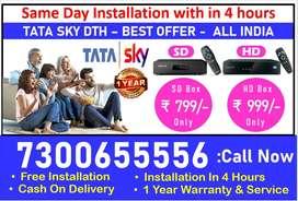 Offer full dhamaka Tata Sky new HD box & Airtel digital TV Free Instal