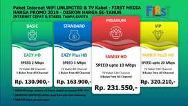 GEBYAR PROMO 2019 - FIRST MEDIA Internet WiFi & TV Kabel Termurah