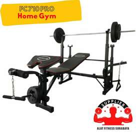 chest press FC 710 MAX bench otot dada alat fitness multi home gym dum