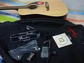 Fender FA-125CE Dreadnought Electro Acoustic Guitar with accessories