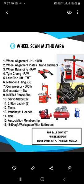 Wheel alignment and work shop