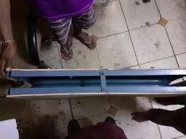Single steel wooden folding bed