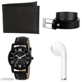 Watch with Rechargeable Bluetooth In earbud, Belt & Wallet| Combo pack