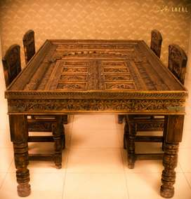 Luxury Hand-made Mughal Inspired 6 Seater Dining Table
