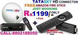 AMAZON FIRE STICK WITH TATA SKY NEW DTH HD CONNECTION Rs.1199
