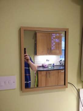 Raspberry pi 3 plus lcd plus acrylic mirror plus wood frame with paint