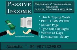 Double Benefits -- Half Time Job-- Assignment Based Payment 24000/-
