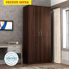 New wallnut brown new 2 door wardrobe