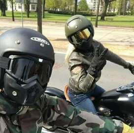 Kacamata Goggle lengkap dgn Masker Black Rider