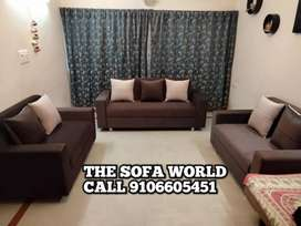 New 7 seater brown sectional beautiful sofa with cushion