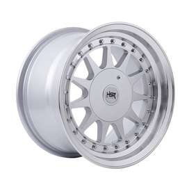 JUAL VELG HSR Ring-15x75-85-H8x100-1143-ET30-25-Silver-Machine-Lips