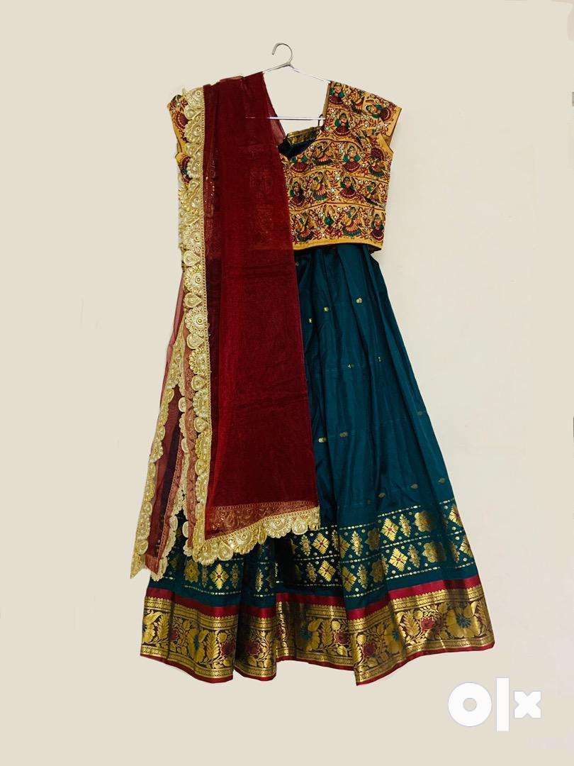 Green and red 3 piece lehenga 0