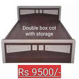 Sultan furniture Double box cot with storage  and warantee