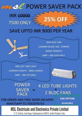 Save up to 9000 Rupees in Electricity Bill with MSL Super Saver Pack