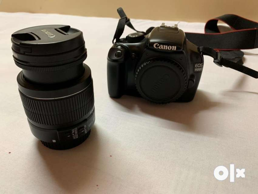 Canon eos 1100d with 18-55 lens and lens protector 0