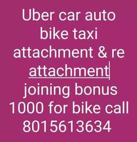 Uber car bike auto attachment