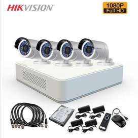 hikvision CCTV Cameras with free Installation & maintenance
