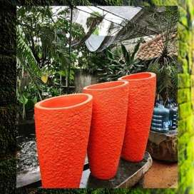 Pot Terazzo 1 set diameter miring Dekorasi Taman outdoor or Indoor