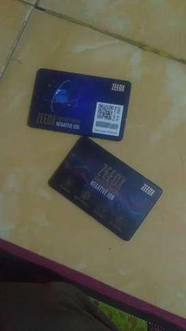 ZEEOX Energi Card Negative ion