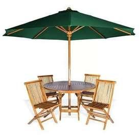Meja Payung Kayu Jati - Meja Makan Outdoor