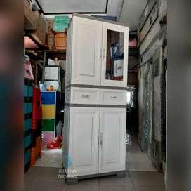 Lemari pakaian / lemari baju olymplast Omc Reborn 2 pintu 2 meter
