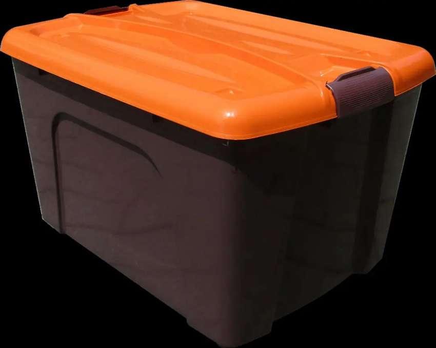 Box container plastik 50 liter warna coklat / untuk parcel lebaran