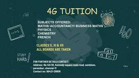 Tuitions for main subjects for higher grades