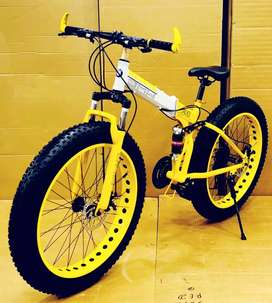 Bmw fat tyre foldable cycle with shimano 21 gears