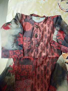 XL shifon sobar luck one piece +kurti