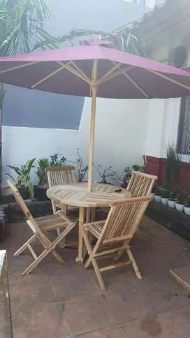 Meja payung kantin,vila,resto,taman,tempat wisata
