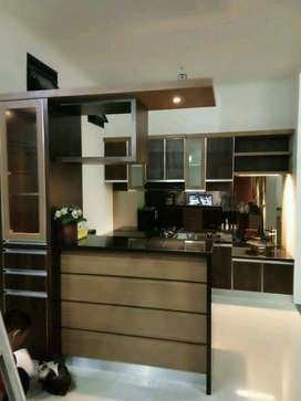 kitchenset minimalis dan minibar custom