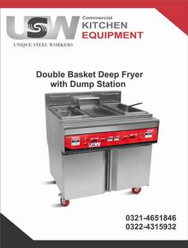 Double Basket Deep Fryer With Dump Station