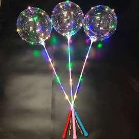 Balon PVC LED dan Stik Kondisi Kempes