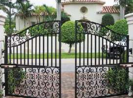 Jasa pasang pintu pagar besi berbagai tipe harga miring