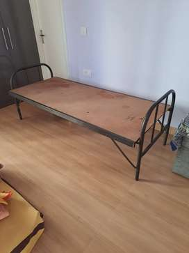 Solid Metal Cot - Foldable - Single Bed