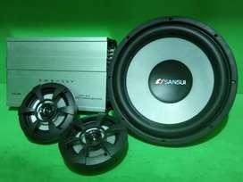 Paket Audio Mobil Bass Mantap Full SET