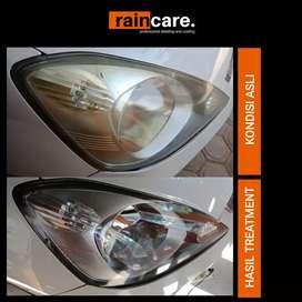 Restorasi Headlamp (Lampu) Mobil dan Motor kusam, buram, menguning.