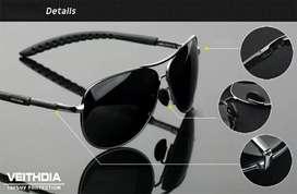 Original Fullset Kacamata Impor Veithdia Aviator Polarized Sunglass