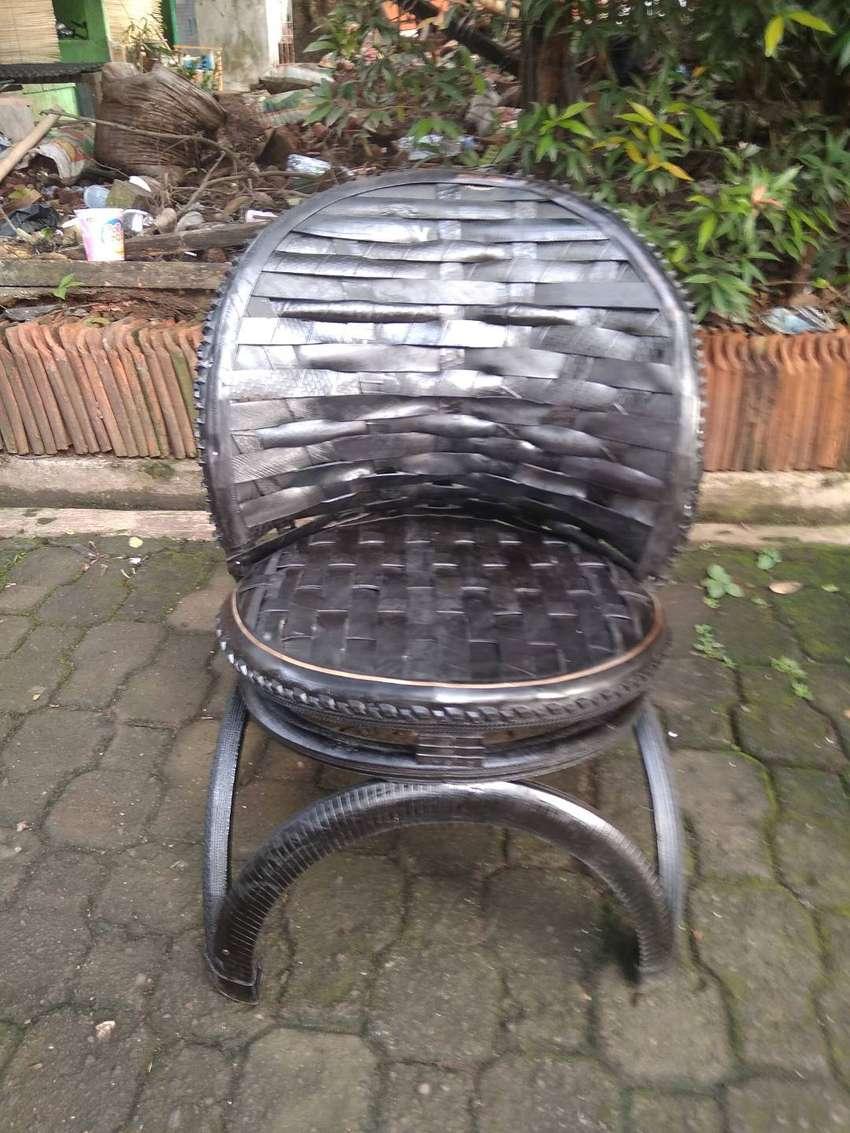 kursi pemancingan dari ban bekas non plastik/kayu