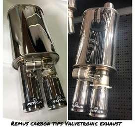 Remus valvetronic dual tip carbon and titanium tip