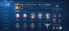 Akun Sultan Mobile legend ML Top 1 squad Kingscrown